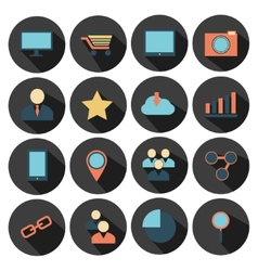 Flat design - icons set vector