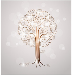 Vintage abstract tree drawing vector image