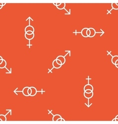 Orange gender signs pattern vector