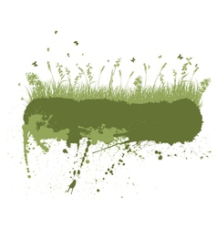 Grunge grass silhouettes vector