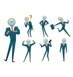 Businessman watch head vector