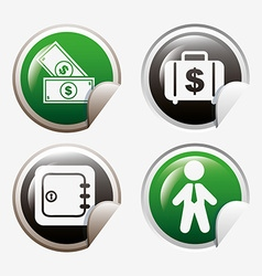 Money set icons design vector