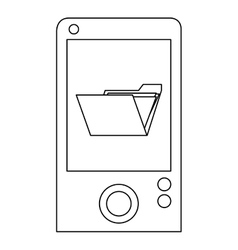 Cellphone with folder vector