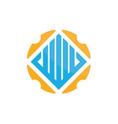 Abstract circle real estate logo image vector