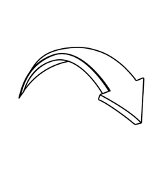 arrow monochrome isolated icon vector image vector image