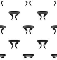 baroque table icon in black style isolated on vector image