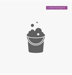 bucket icon simple vector image