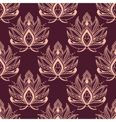 Burgundy and pink damask floral pattern vector