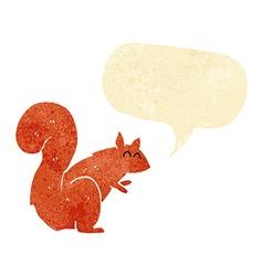cartoon red squirrel with speech bubble vector image vector image