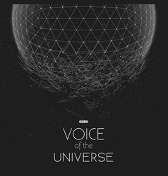 Crashing grayscale space sphere vector