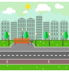 Empty town landscape and road on street vector image vector image