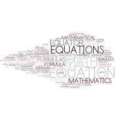 Equation word cloud concept vector