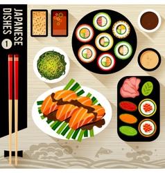 Food Japanese food vector image