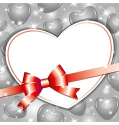 frame with heart vector image vector image