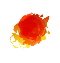 Grunge summer red splash vector