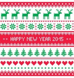 Happy new year 2015 - scandinavian winter pattern vector