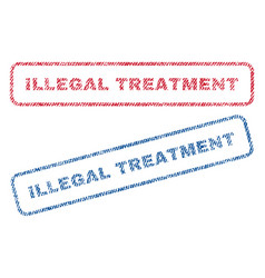 Illegal treatment textile stamps vector