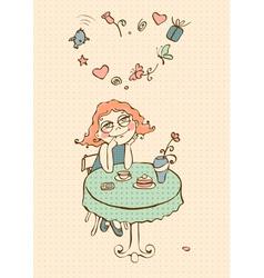 In love girl vector image