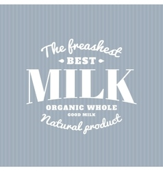 Isolated milk logo white writing dairy vector