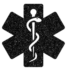 Medical life star grainy texture icon vector