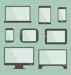 modern gadgets with blank screen vector image vector image