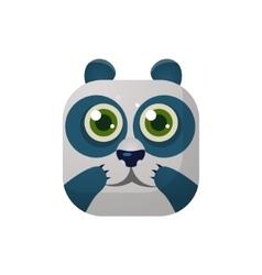 Panda square icon vector