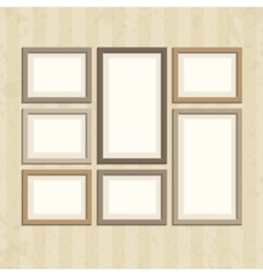 Photo frame on vintage wall vector