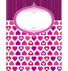 pink valentine background with hearts vector image