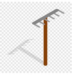 rake isometric icon vector image vector image