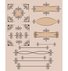 retro typographic design elements vector image