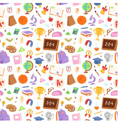 School icons seamless pattern background vector