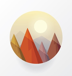 Smooth polygonal landscape design in circle vector image vector image