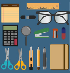 stationery elements set vector image vector image