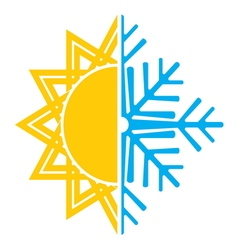 Summer winter air conditioning icon5 resize vector