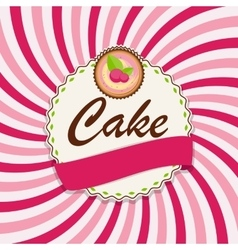 Sweet cake with berry menu background vector