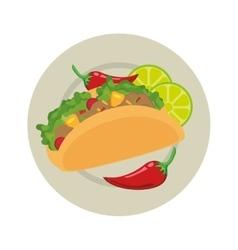 Taco mexican food menu icon vector