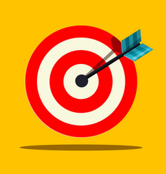 target icon flat design vector image vector image