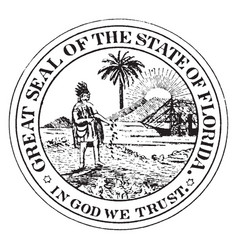 The former great seal of florida vintage vector