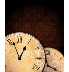 Vintage clocks vector