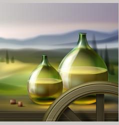 vintage wine bottles vector image vector image