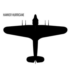 World war ii - hawker huricane vector