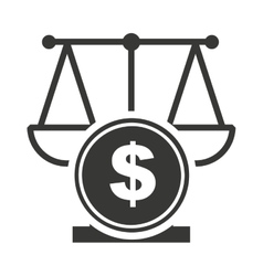Scale balance with economy icon vector