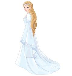 Fantasy style elf princess vector