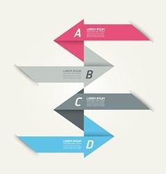 Modern Design template arrow banners vector image