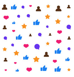 icons of social network over white background vector image