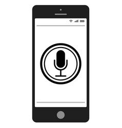 Mobile phone smartphone with voice control search vector