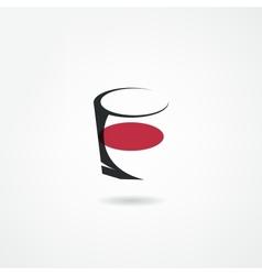 Glasses icon vector