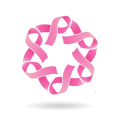 Pink star logo vector