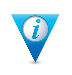 information icon map pointer blue vector image