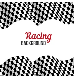 Checkered racing flag vector